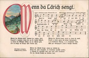 Liedkarten Erzgebirge: Wenn da Lärich singt.  Anton Günther Gottesgab:52