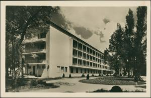 Postcard Balatonlelle Partie am Hotel 1960