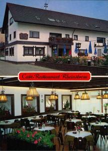 Plittersdorf-Rastatt Café-Restaurant Rheinstrom Fährstraße Innen & Außen 1975