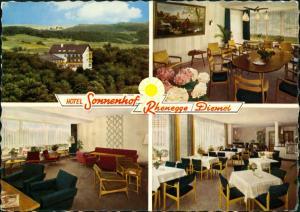 Nordeck (Rhenegge) Hotel Restaurant SONNENHOF Rhenegge Kreis Waldeck 1961