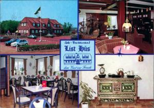 List auf Sylt Cafe-Restaurant List Hüs, Hafenstrasse, Bes. Fam. Wittrock 1987