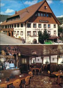Lenzkirch Gasthaus Wilder Mann, grüner VW Käfer, Freiburger Straße 1980