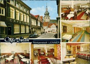 Lennep-Remscheid Café GRAH Wetterauer Straße Außen & Innenansichten 1969