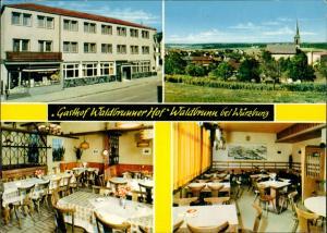 Waldbrunn (Unterfranken) Gasthof Waldbrunner Hof Inh. Fuchs 4 Ansichten 1970