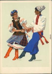 Ukraine   Украцнскцц наробный танец Гопак/Ukrainische Volkstanz Gopak 1957