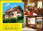 Ansichtskarte Oberstaufen Haus Daheim Freibadweg Innen-/Außenansichten 1970