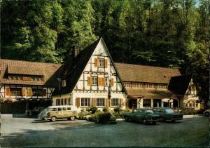 Berlebeck-Detmold Gasthaus Hirschsprung, Auto Autos ua. VW Bulli & Käfer 1968