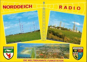 Ansichtskarte Norddeich-Norden MB Funkstation Radio 1984
