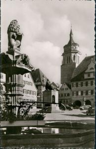 Ansichtskarte Weil der Stadt Marktplatz VW Käfer Beetle 1961