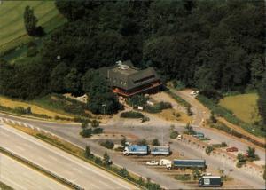 Reinfeld (Holstein) Bundesautobahn-Raststätte Trave Luftbild 1983
