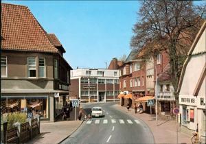 Ansichtskarte Bramsche Brückenort Straße - Geschäftze Sparkasse 1984