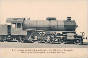 2-C. Heissdampf-Schnellzugslokomotive der Dänischen Staatsbahn. 1908