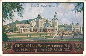 Ansichtskarte Nürnberg VIII: Deutsches Sängerbundes-Fest Sängerhalle 1912