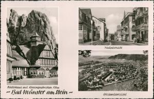 Bad Münster am Stein-Bad Münster am Stein-Ebernburg 3 Bild: Haupstraße, Luftbild 1962