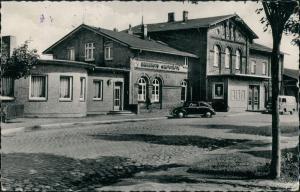Ansichtskarte Meldorf Bahnhof VW Käfer 1961