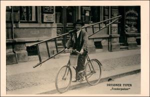 Ansichtskarte Dresden Dresdner Typen - Fensterputzer Geschäft 1926/1995 REPRO