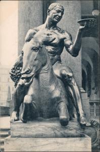 Ansichtskarte Innere Altstadt-Dresden Dionysos auf dem Esel Neues Rathaus 1910