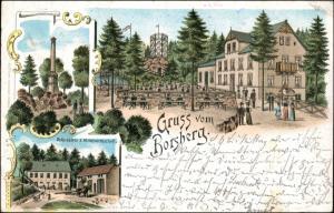 Litho AK Schönfeld - Weißig-Dresden Gasthaus Borsberg Gruss vom.. 1901