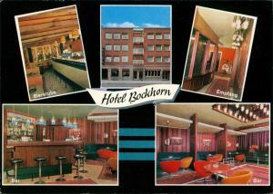 Münster (Westfalen) Reklame-Karte Hotel Bockhorn mit Stadtplan, Werbekarte 1970