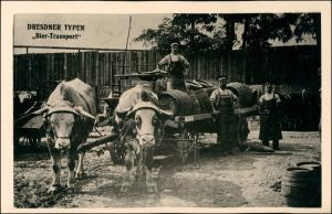 Ansichtskarte Dresden Dresdner Typen - Bier-Transport Männer 1926/1995 REPRO
