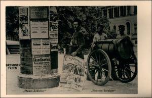 Dresden Dresdner Typen Plakatkleber Strassenreiniger 1925/1995 REPRO