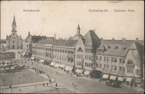 Postcard Kecskemét Kecskemet Markttreiben Freiheitsplatz 1914
