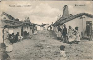 Kecskemét Kecskemet Részlet a czigányvárosból - Straßen 1915
