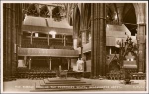 Postcard London Westminster Abbey Peeresses Seats 1953