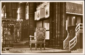 Postcard London Westminster Abbey - The Royal Galery 1953