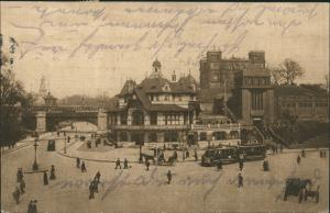 St. Pauli-Hamburg Fährhaus St. Pauli, Straßenbahn Bismarckdenkmal 1919