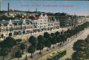 Ansichtskarte St. Pauli-Hamburg Reeperbahn, Spielbudenplatz 1929