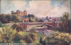 Ansichtskarte Hamburg Helgoländer Weg - Künstlerkarte 1915