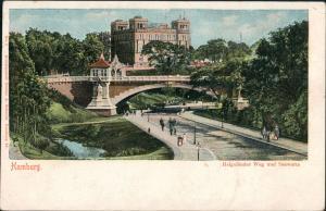 Ansichtskarte Hamburg Helgoländer Weg, Brücke 1902