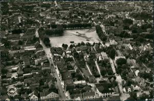 Ansichtskarte Heide (Holstein) Luftaufnahme Luftbild Überflug Zentrum 1955