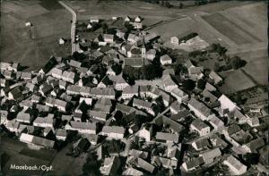 Moosbach (Oberpfalz) Luftbild Überflug Dorf Zentrum Dorfmitte 1964