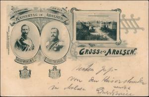 Bad Arolsen Kaisertag Kaiser Wilhelm Fürdt Friedrich Schloss 1899