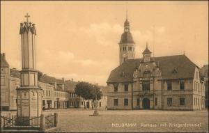 Neudamm (Neumark) Dębno Markt, Kriegerdenkmal Chojna  Königsberg   Neumark 1918