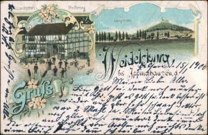Litho AK Ippinghausen-Wolfhagen 2 Bild Gruss aus.. Weidelburg Gasthof 1900