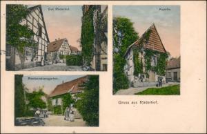 Ansichtskarte Röderhof-Diekholzen 3 Bild: Gut, Kapelle, Restauration 1910