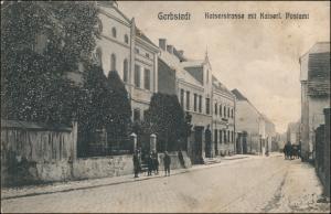 Ansichtskarte Gerbstedt Kaiserstrasse und Post 1907