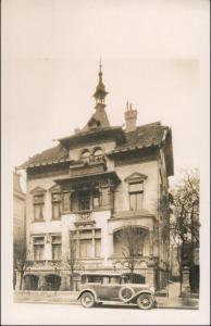 Foto Hannover Auto vor Haus Wedekindstraße 24 1922 Privatfoto