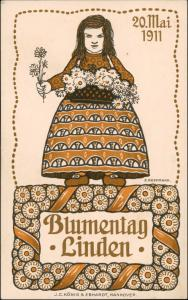 Ansichtskarte Linden-Hannover Künstlerkarte Blumentag 20. Mai 1911