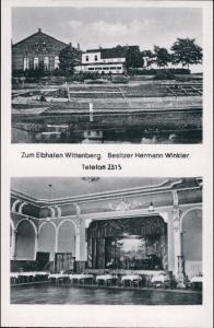 Ansichtskarte Lutherstadt Wittenberg Gatsthaus zum Elbhafen - 2 Bild 1942