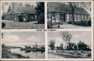 Ansichtskarte Lossow-Frankfurt (Oder) 4 Bild Gastwirstwirtschaft, Mühle 1938