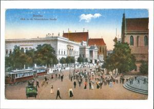 Postcard Breslau Wrocław Schweidnitzer Straße - Repro 1917/2002