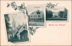 Tamsel-Vietz (Ostbahn) Dąbroszyn Witnica MB Schloss Kirche b Landsberg 1915