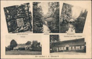 Berneuchen Barnówko Gasthof, Kriegerdenkmal, Schloß Dębno Neudamm Neumark 1919