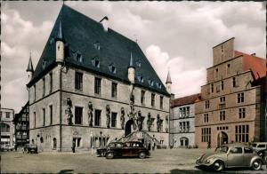 Ansichtskarte Osnabrück VW Käfer Rathaus 1958