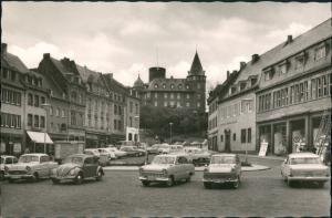 Ansichtskarte Mayen VW Käfer Autos - Markt 1962