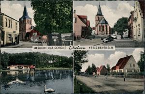 Ansichtskarte Uelsen 4 Bild: Straße, Gasthaus 1955